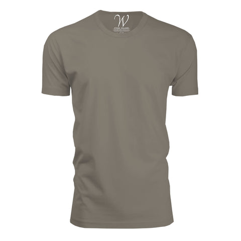 EWC 100WG Stone Ultra Soft Sueded Crew Neck T-shirt