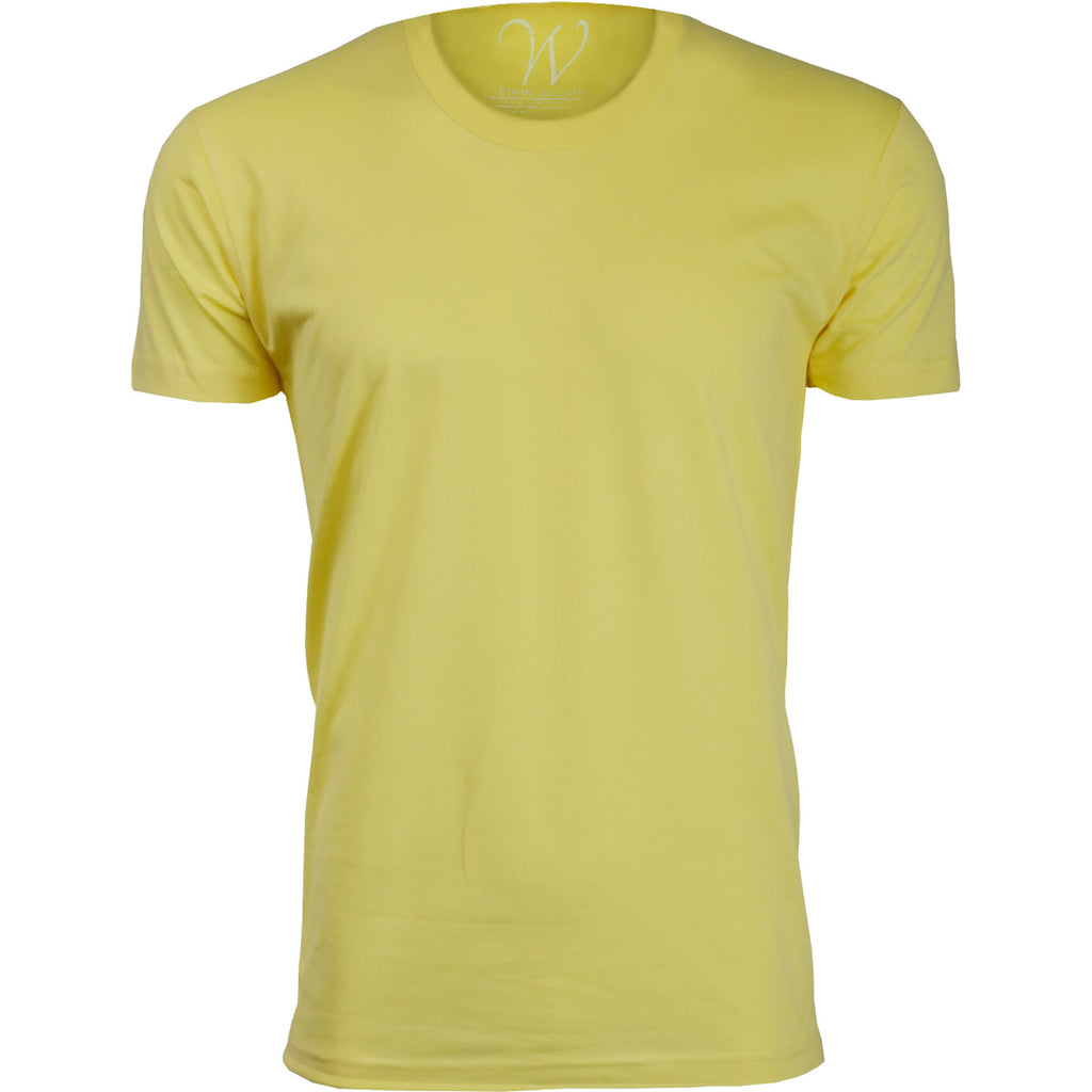 EWC 100Y Yellow Ultra Soft Sueded Crew Neck T-shirt
