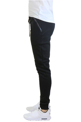 EWC 112JB Black Tech Fleece Joggers