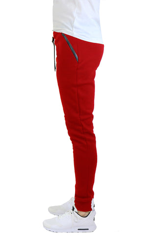 EWC 112JR Red Tech Fleece Joggers