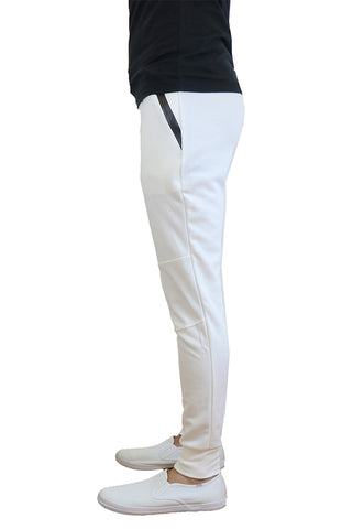 EWC 112JW White Tech Fleece Joggers