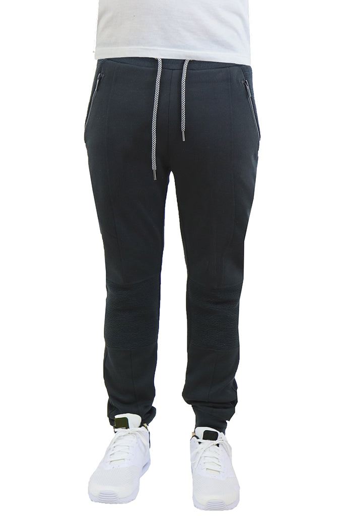 EWC 115JB Black Tech Fleece Moto Joggers