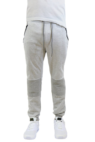 EWC 115JHG Heather Grey Tech Fleece Moto Joggers