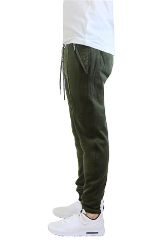 EWC 115JO Olive Tech Fleece Moto Joggers