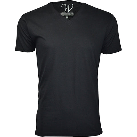 EWC 150B Black Ultra Soft Sueded V-Neck T-shirt