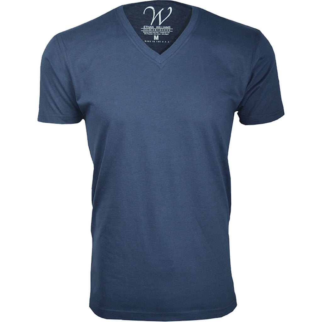EWC 150N Navy Ultra Soft Sueded V-Neck T-shirt