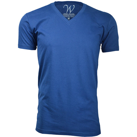 EWC 150RB Royal Blue Ultra Soft Sueded V-Neck T-shirt