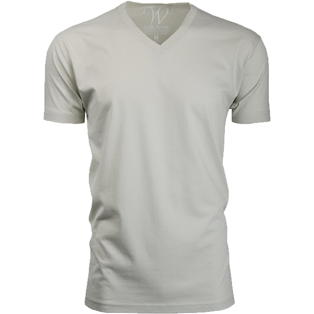 EWC 150S Sand Ultra Soft Sueded V-Neck T-shirt