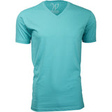 EWC 150T Turquoise Ultra Soft Sueded V-Neck T-shirt