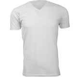 EWC 150W White Ultra Soft Sueded V-Neck T-shirt