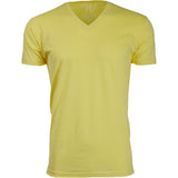 EWC 150Y Yellow Ultra Soft Sueded V-Neck T-shirt