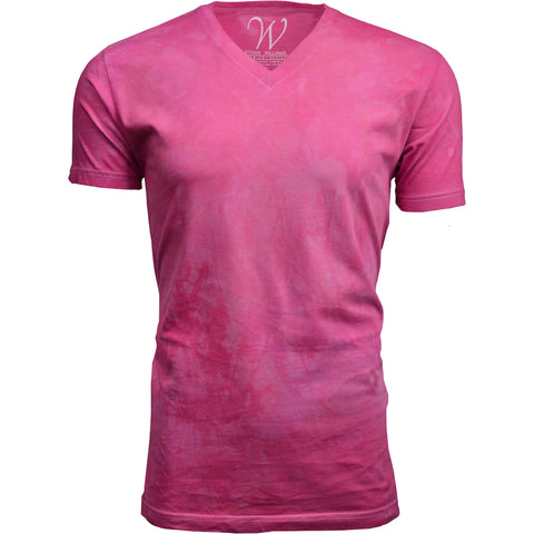 EWC 175BG Bubble Gum Hand Dyed Ultra Soft Sueded V-Neck T-shirt