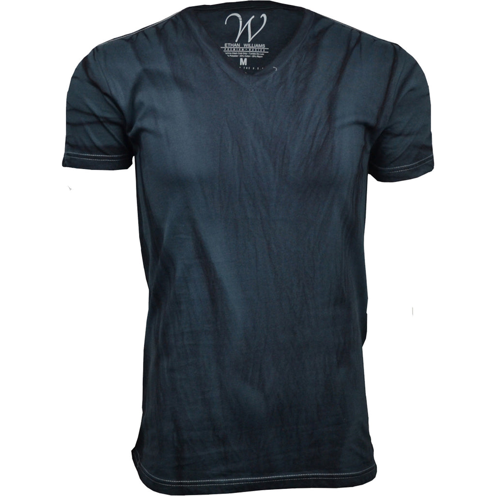 EWC 175CH Charcoal Hand Dyed Ultra Soft Sueded V-Neck T-shirt