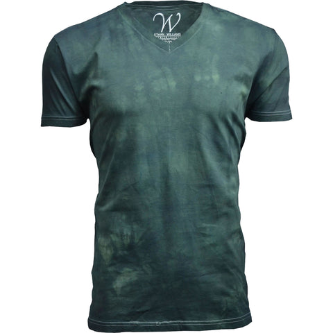 EWC 175HG Hunter Green Hand Dyed Ultra Soft Sueded V-Neck T-shirt