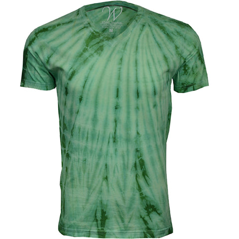 EWC 175LG Lime Green Hand Dyed Ultra Soft Sueded V-Neck T-shirt