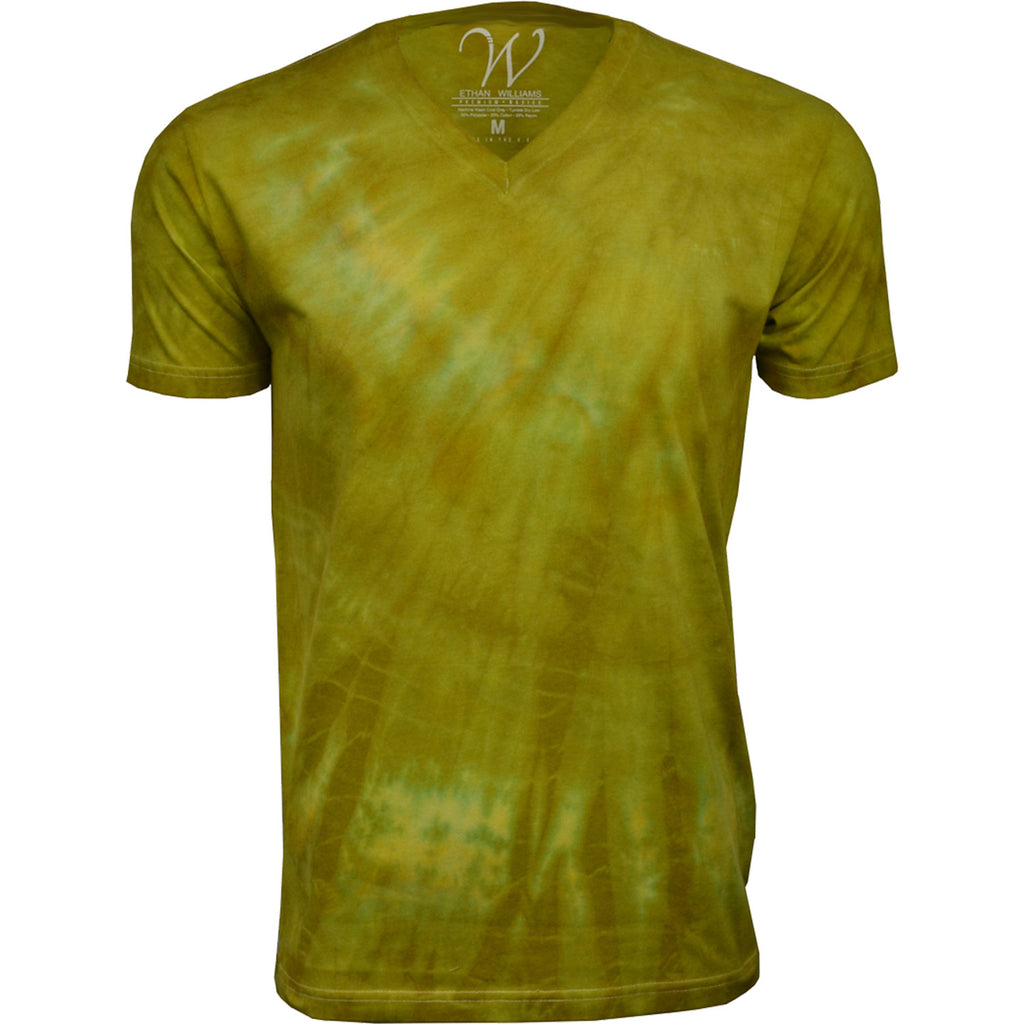 EWC 175M Mustard Hand Dyed Ultra Soft Sueded V-Neck T-shirt