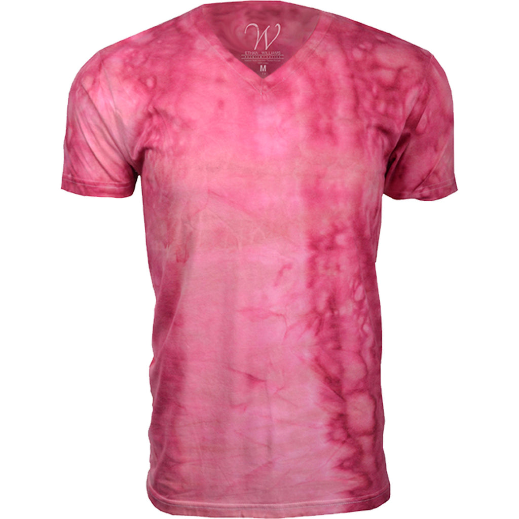 EWC 175P Pink Hand Dyed Ultra Soft Sueded V-Neck T-shirt