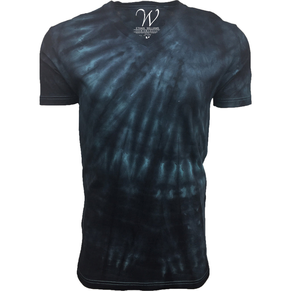 EWC 175TT Twisted Teal Hand Dyed Ultra Soft Sueded V-Neck T-shirt