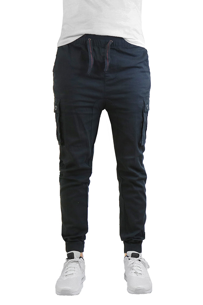 EWC 650JB Black Stretch Twill Cargo Joggers