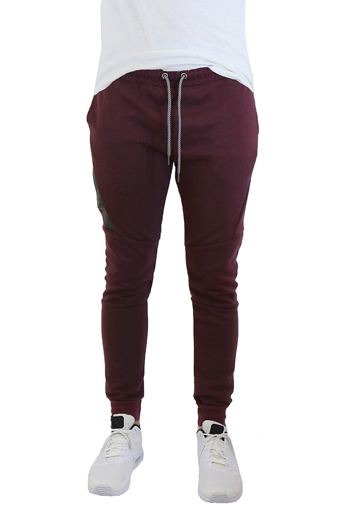 EWC 702JBG Burgundy Tech Fleece Joggers