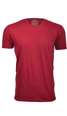 ORG 100BG Burgundy Organic Cotton Crew Neck T-shirt