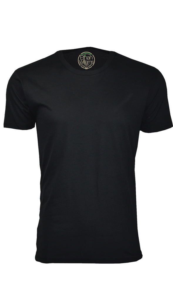 ORG 100B Black Organic Cotton Crew Neck T-shirt