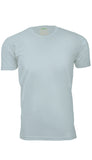 ORG 100LB Light Blue Organic Cotton Crew Neck T-shirt