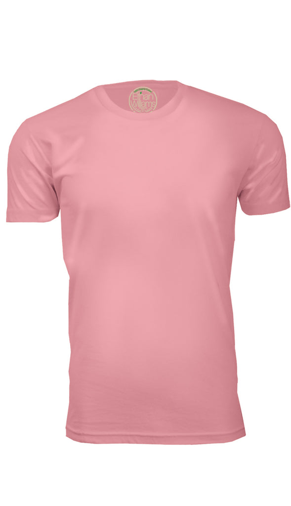 ORG 100LP Light Pink Organic Cotton Crew Neck T-shirt