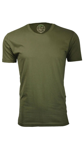 ORG 100MG Military Green Organic Cotton Crew Neck T-shirt