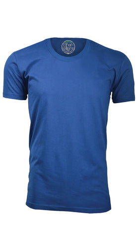 ORG 100RB Royal Blue Organic Cotton Crew Neck T-shirt