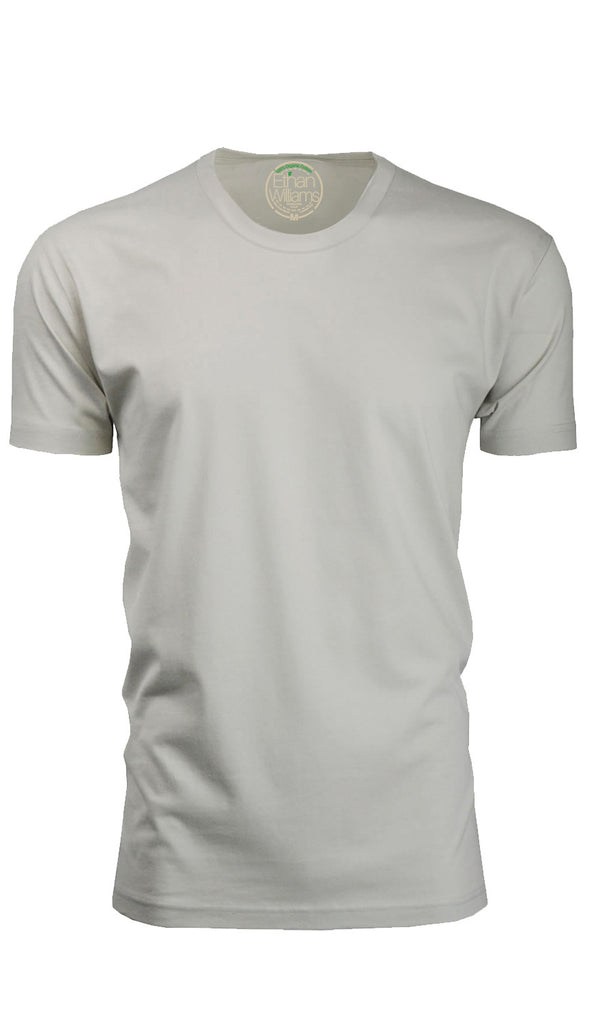 ORG 100S Sand Organic Cotton Crew Neck T-shirt