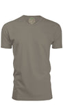 ORG 100WG Warm Grey Organic Cotton Crew Neck T-shirt