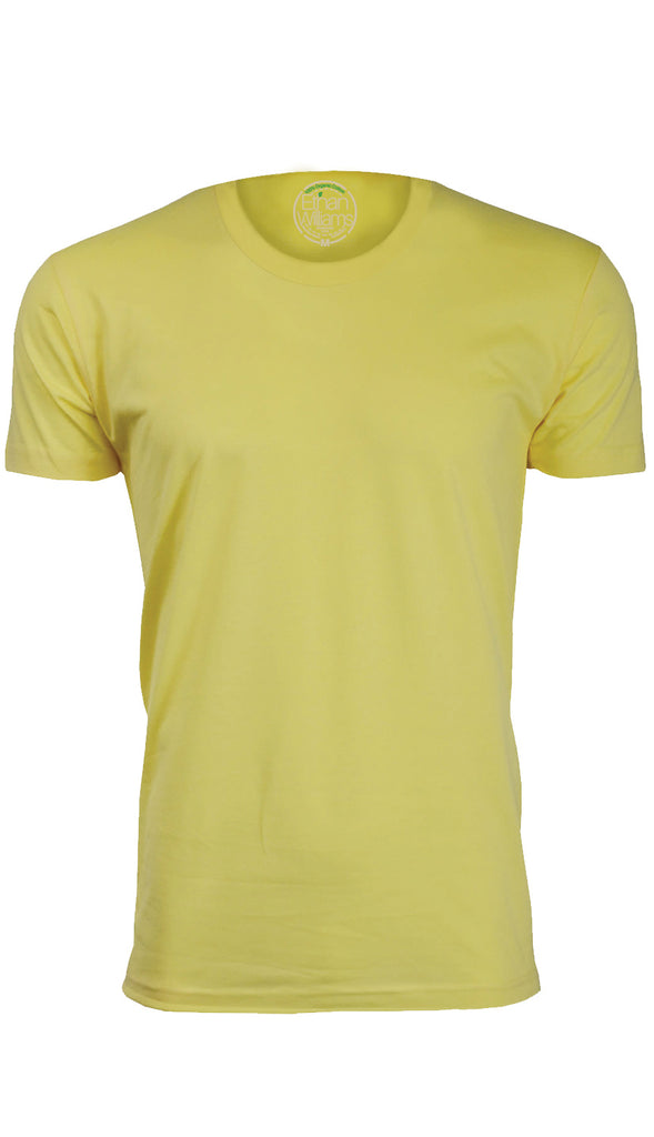 ORG 100Y Yellow Organic Cotton Crew Neck T-shirt
