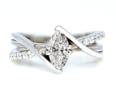 Modern Marquise Diamond Ring
