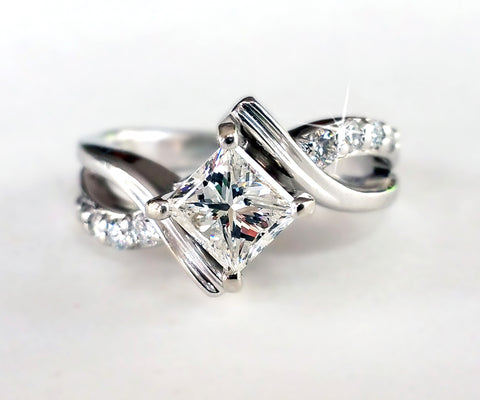 Bypass Princess Diamond Ring
