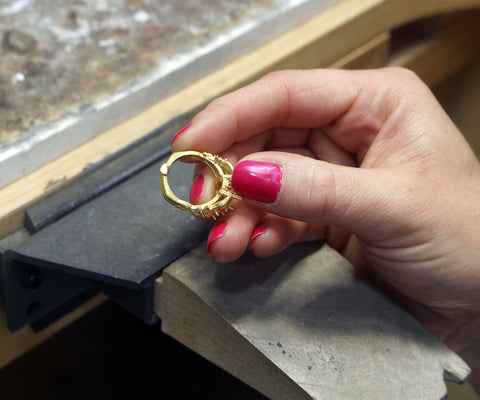 rough rose gold ring casting