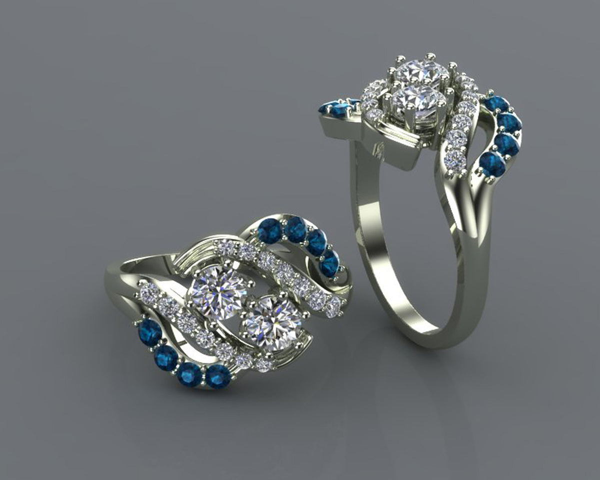 Blue Diamond Redesigned Ring
