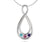 Double Teardrop Birthstone Family Necklace
