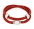 Ambrosia double wrap Swarovski crystal sparkle red leather bracelet