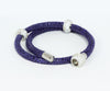 Double Wrap Swarovski Crystals Royal Leather Bracelet