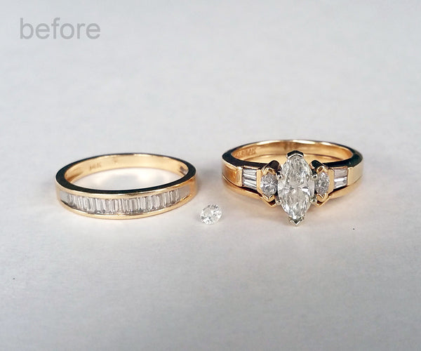 Inherited wedding ring redesign ambrosia for Ideas for redesigning wedding rings
