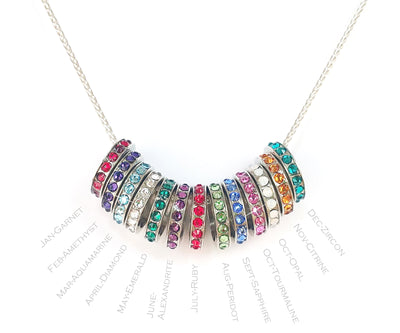 Interlocking 2 Birthstones Necklace