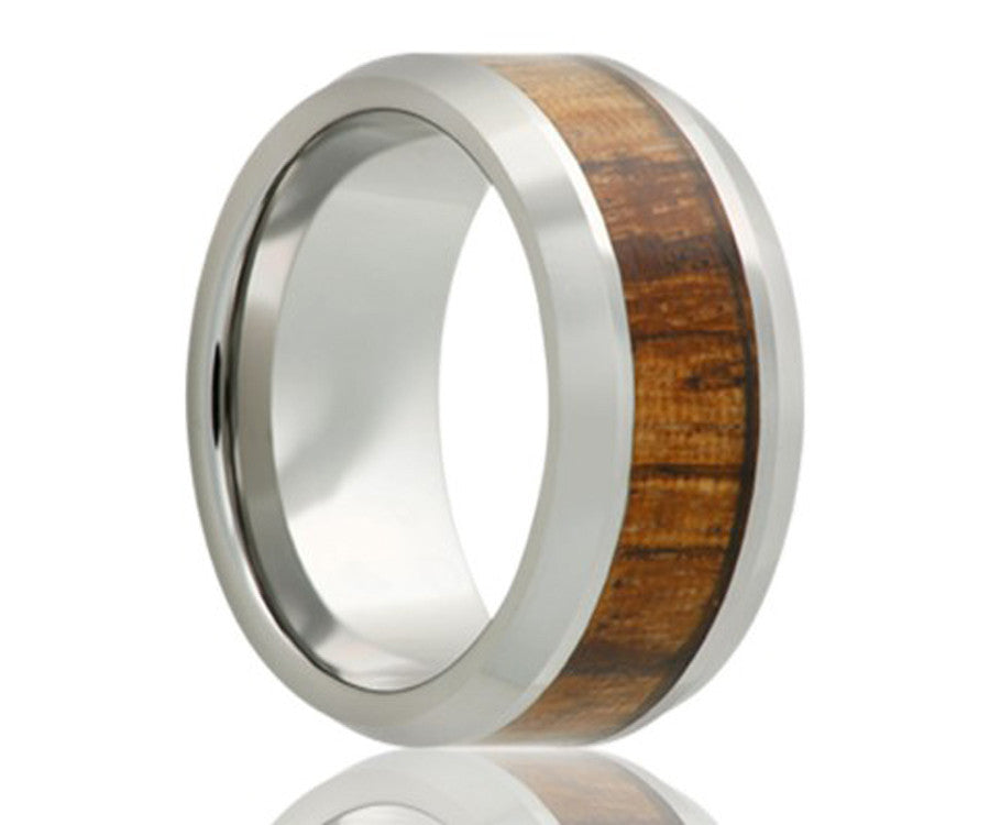 Cobalt Zebra Wood Ring