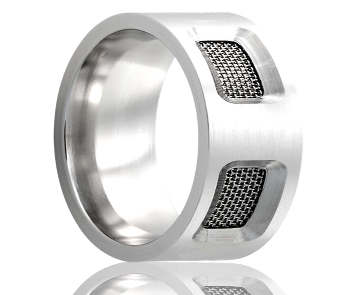 Cobalt Flat Mesh Screen Ring