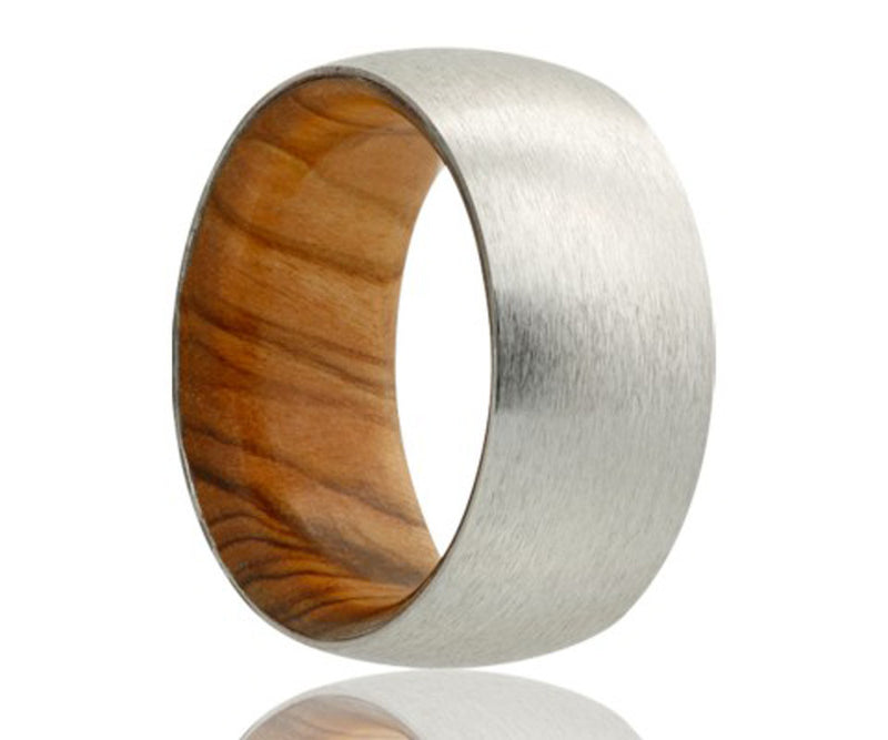 Cobalt Olive Wood Inlay Ring