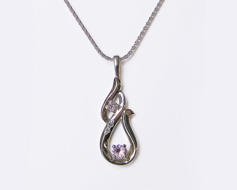 curved alexandrite and diamond necklace redesigned