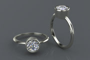 Custom Solitaire Diamond Wedding Ring