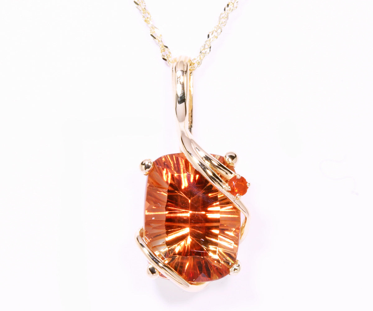druzy long sunstone necklace pendant jkonikoff product