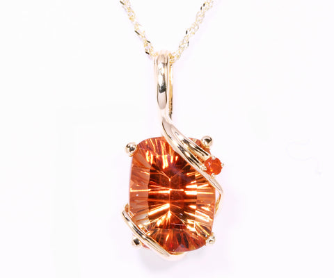 Sunstone and Fire Mexican Opal Necklace
