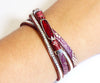 Animal Print Red Gem Sparkly Bracelet